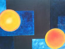 Sunrise & Sunset, Paintings, Expressionism,Fine Art,Modernism, Celestial / Space,Conceptual, Canvas,Oil, By supreet gujral