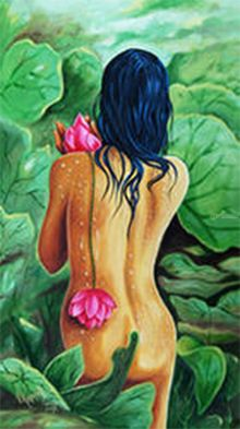 The Dawn of Love, Paintings, Realism, Figurative, Canvas, By RAGUNATH VENKATRAMAN
