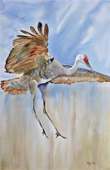 Touch the Sky, Paintings, Realism, Wildlife, Watercolor, By Vicky Lilla