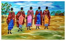 Tribal bonding, Paintings, Fine Art, Daily Life,Figurative,People, Acrylic, By Smita Biswas