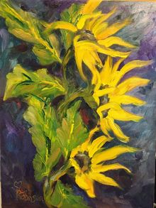 Triplettes, Paintings, Realism, Botanical, Oil, By Sherry Robinson