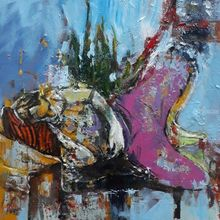 Untitled, Paintings, Abstract, Figurative, Mixed, By Tahereh Soleimani