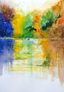 watercolor 516072, Paintings, Impressionism, Landscape, Watercolor, By Pol Ledent