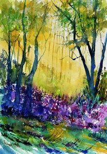 watercolor 517010, Paintings, Impressionism, Landscape, Watercolor, By Pol Ledent