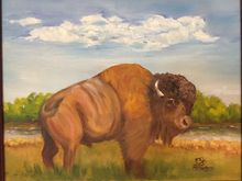 Who You Lookin' At?, Paintings, Realism, Animals, Landscape, Wildlife, Oil, By Sherry Robinson