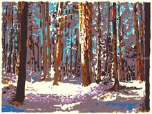 Winter 1997, Printmaking, Expressionism, Landscape, Ink, By Thomas Norulak