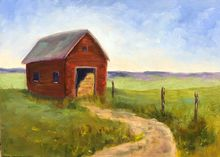 Winter Storage, Paintings, Realism, Landscape, Oil, By Sherry Robinson
