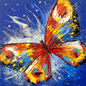Butterfly, Paintings, Impressionism, Animals, Dance, Floral, Nature, Canvas, Oil, Painting, By Olha   Vyacheslavovna Darchuk