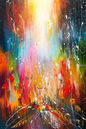 INSPIRED BY THE SUNSET, Paintings, Abstract, Inspirational, Nature, Wildlife, Canvas, Oil, By Liubov Kuptsova