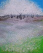 Klimt inspired blooming trees, Paintings, Impressionism, Inspirational,Land Art,Landscape,Nature, Oil, By Emilia Milcheva