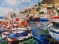 Marina, Paintings, Fine Art, Realism, Land Art, Landscape, Seascape, Canvas, Oil, Painting, By Kateryna Bortsova