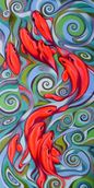 Psychedelic fish, Paintings, Expressionism, Fine Art, Animals, Oil, By federico cortese