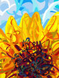 Sunflower, Paintings, Impressionism, Composition, Oil, By Angelo