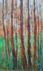 WOODS MOODS, Paintings, Fine Art,Impressionism,Modernism, Land Art,Landscape,Nature, Acrylic, By Emilia Milcheva