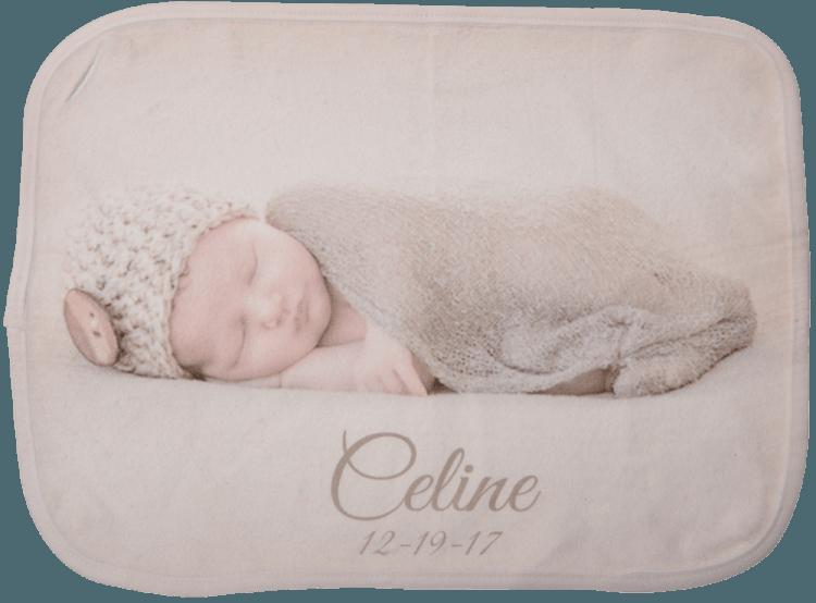 Small Fleece Baby Burp Blankets
